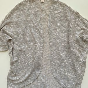 Open short sleeve cardigans